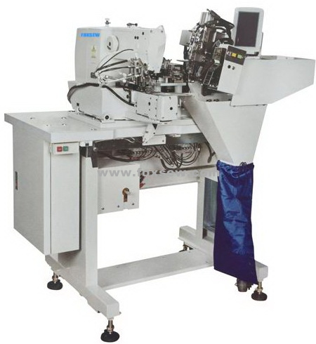 Automatic Double Needle Belt Loop Attaching Sewing Machine
