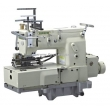 12-Needle Flat-bed Double Chain Stitch Sewing Machine with Shirring